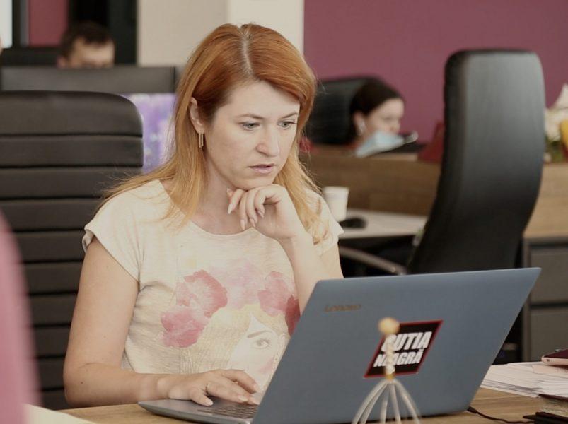 Mariana Rață, jurnalistă TV8 Cutia Neagră foto credit Media-Guard